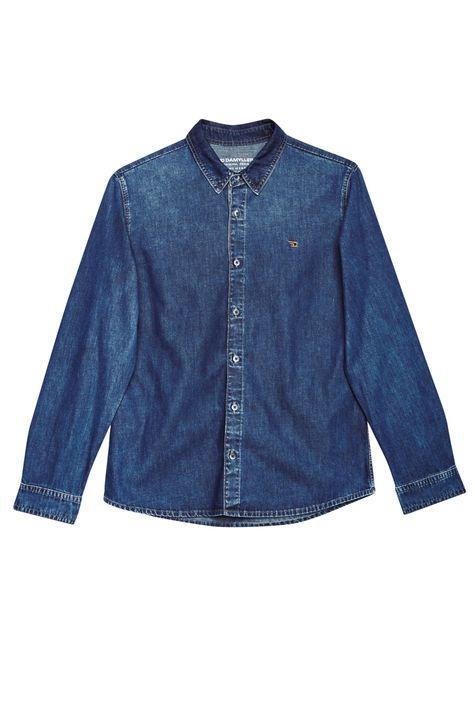Camisa-Jeans-Azul-Medio-Masculina-Detalhe-Still--