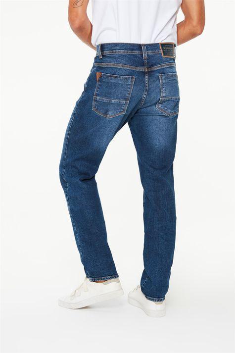 Calça-Jeans-Azul-Escuro-Slim-Masculina-Costas--