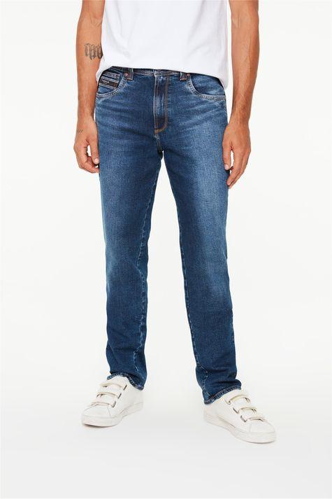Calça-Jeans-Azul-Escuro-Slim-Masculina-Detalhe--