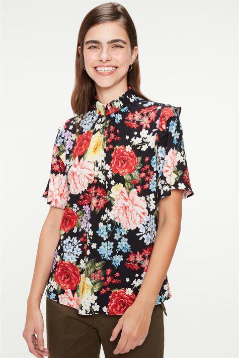 Blusa-Gola-Franzida-Estampa-de-Flores-Frente--