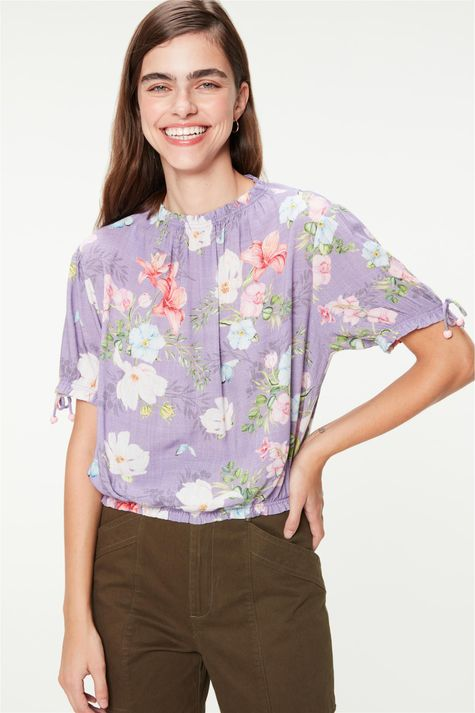 Blusa-Cropped-Franzida-Estampa-Floral-Detalhe--