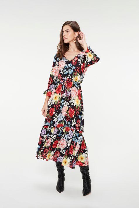 Vestido-Midi-com-Babado-e-Estampa-Floral-Frente--
