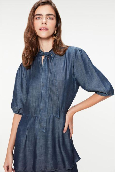 Vestido-Jeans-Midi-com-Babados-Gola-Laco-Detalhe--