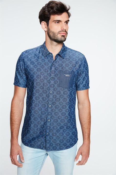 Camisa-Jeans-de-Manga-Curta-Estampada-Detalhe--