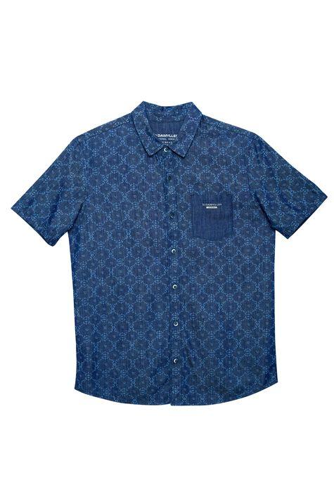 Camisa-Jeans-de-Manga-Curta-Estampada-Detalhe-Still--