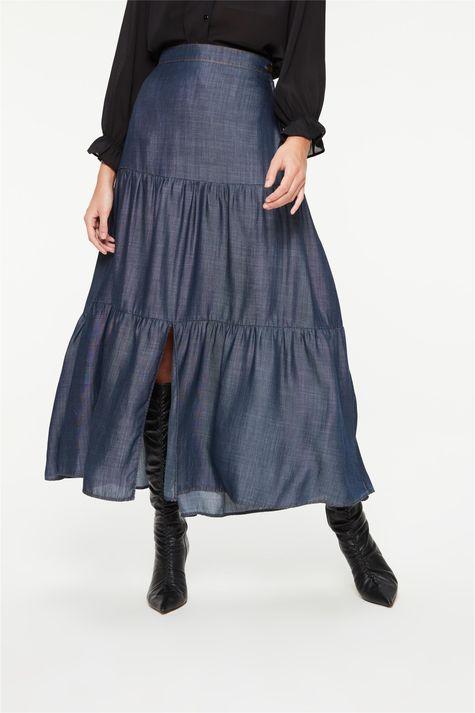 Saia-Jeans-Longa-com-Recortes-e-Fenda-Detalhe--