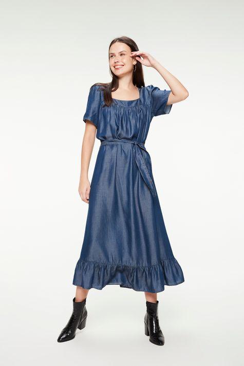 Vestido-Jeans-Midi-com-Babados-Franzidos-Detalhe-1--