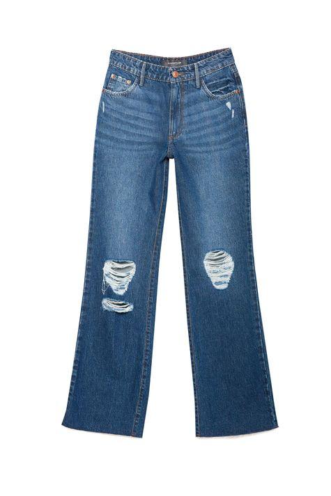 Calca-Jeans-Reta-com-Rasgos-Cintura-Alta-Detalhe-Still--