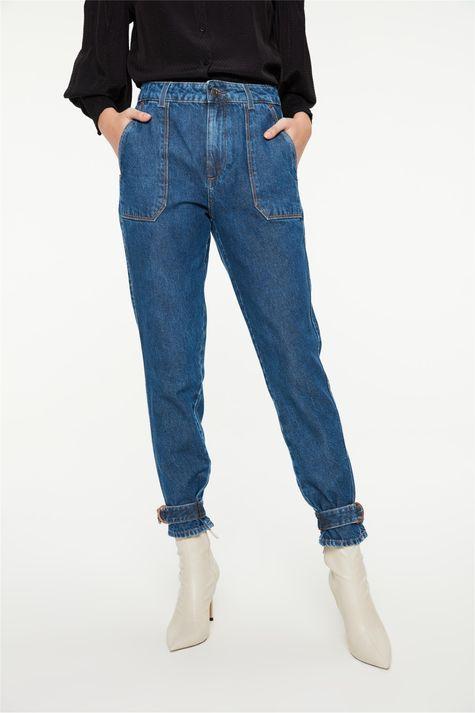 Calca-Jeans-Slim-com-Detalhe-no-Punho-Costas--