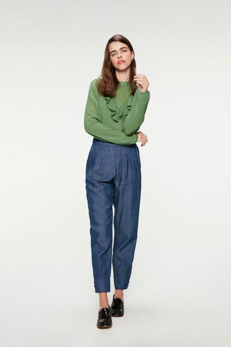 Calca-Jeans-Carrot-Cintura-Alta-Cropped-Frente--