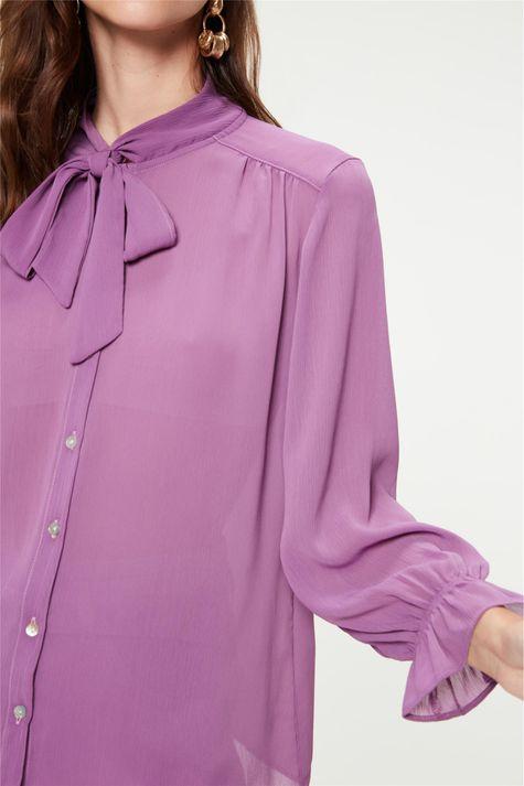 Camisa-Lisa-com-Transparencia-Gola-Laco-Detalhe--