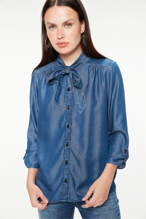 Camisa-Jeans-com-Mangas-7-8-e-Gola-Laco-Frente--