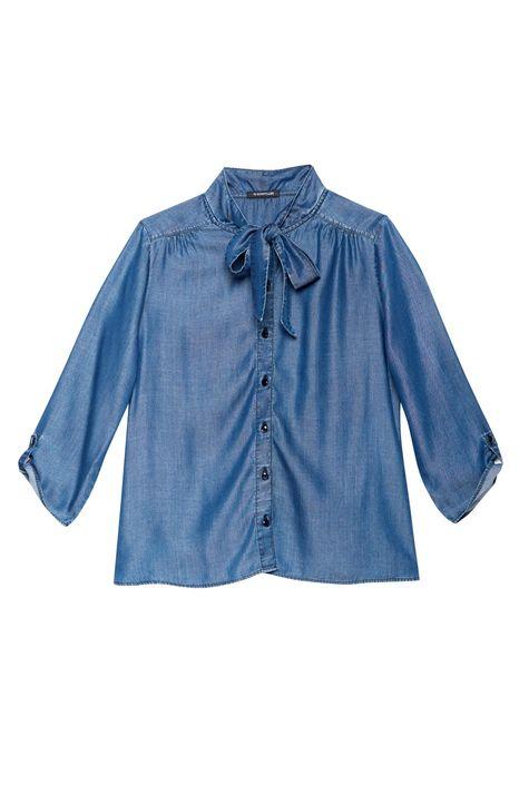 Camisa-Jeans-com-Mangas-7-8-e-Gola-Laco-Detalhe-Still--