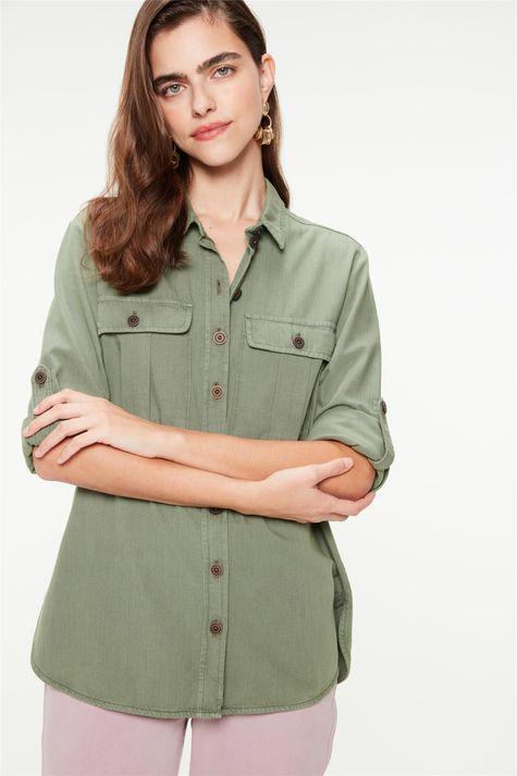 Camisa-Utilitaria-Mangas-7-8-Feminina-Frente--