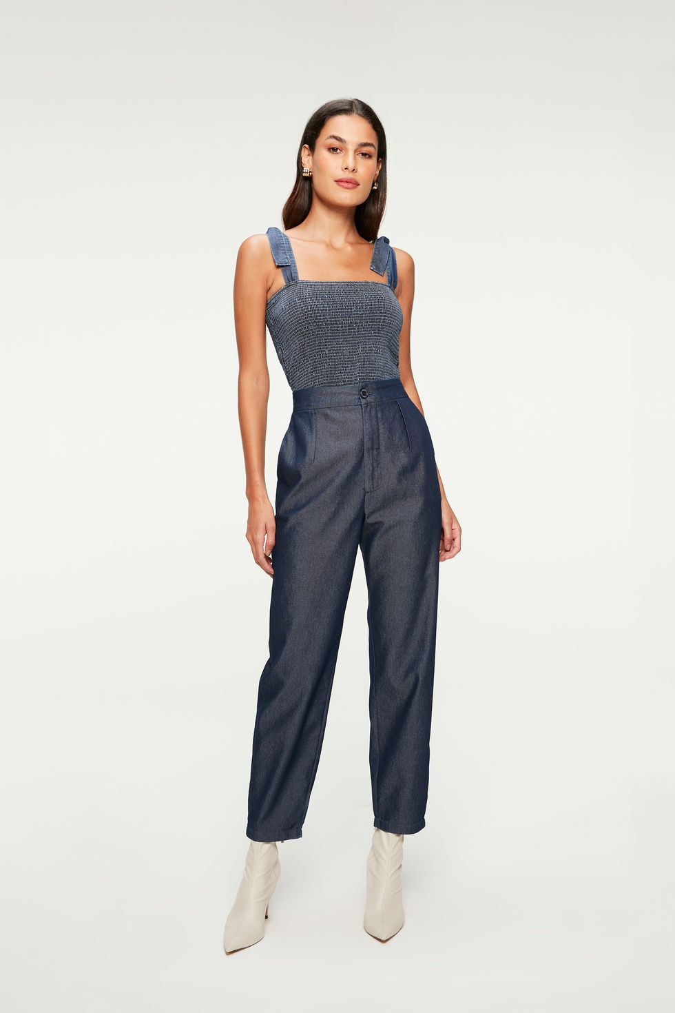 Calça-Jeans-Leve-Chino-Cropped-Frente--