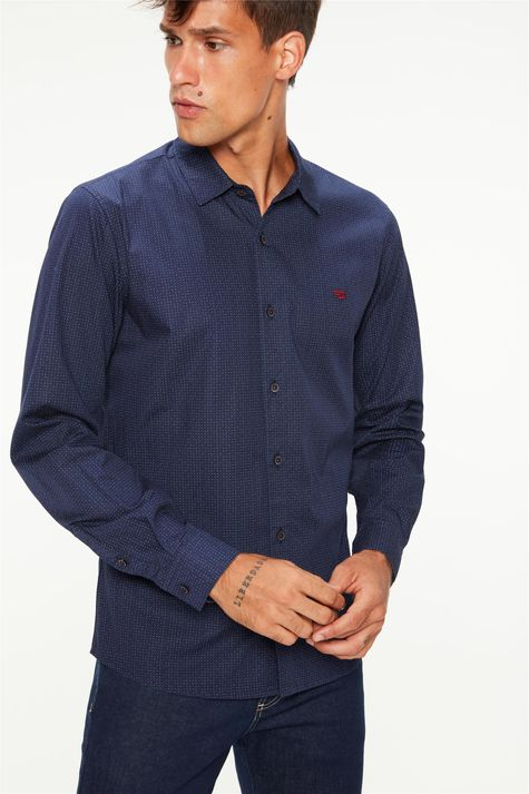Camisa-Manga-Longa-Estampa-de-Bolinhas-Frente--