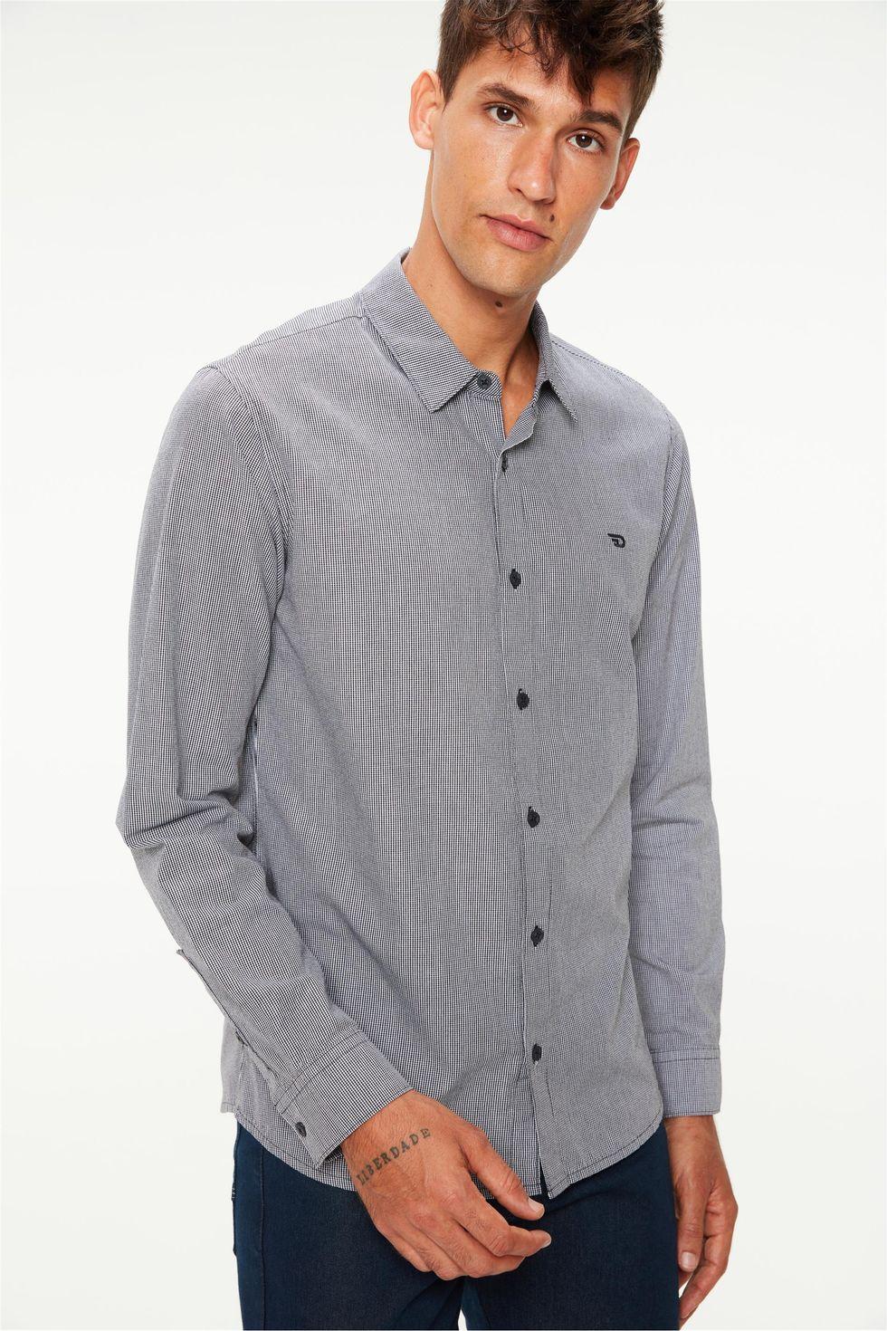 Camisa-Manga-Longa-com-Estampa-Xadrez-Frente--