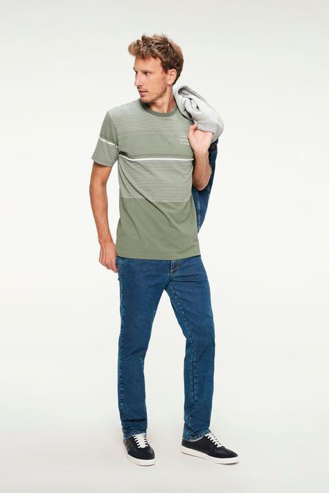 Camiseta-Listrada-com-Estampa-Masculina-Detalhe-1--