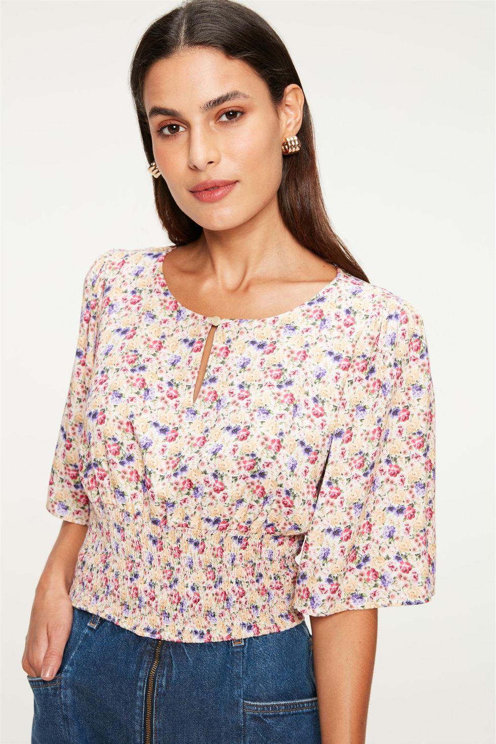 Blusa-com-Lastex-e-Estampa-Floral-Mini-Frente--