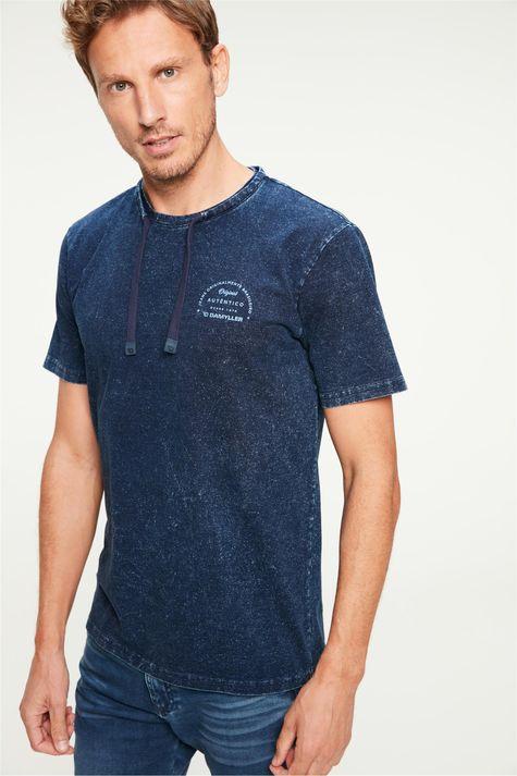 Camiseta-de-Malha-Denim-com-Cordao-Detalhe--