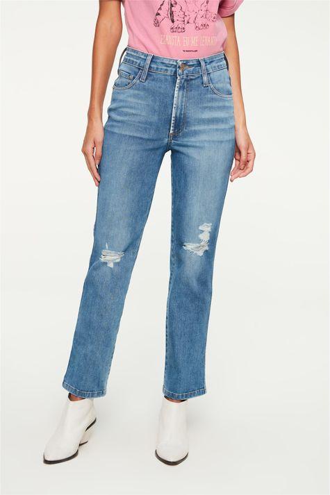Calca-Jeans-Reta-Cropped-com-Destroyed-Detalhe--