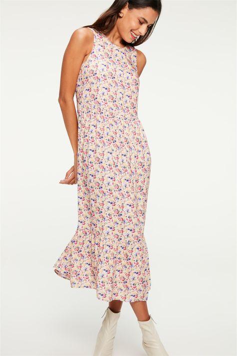 Vestido-Midi-com-Babado-e-Estampa-Floral-Detalhe--