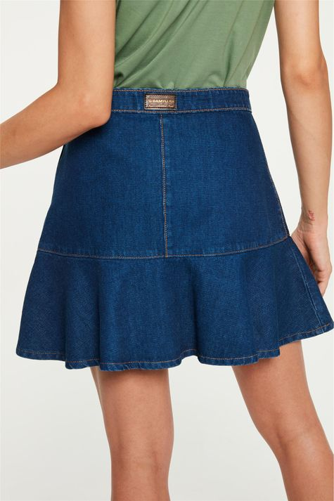 Saia-Jeans-Mini-Peplum-com-Recortes-Costas--