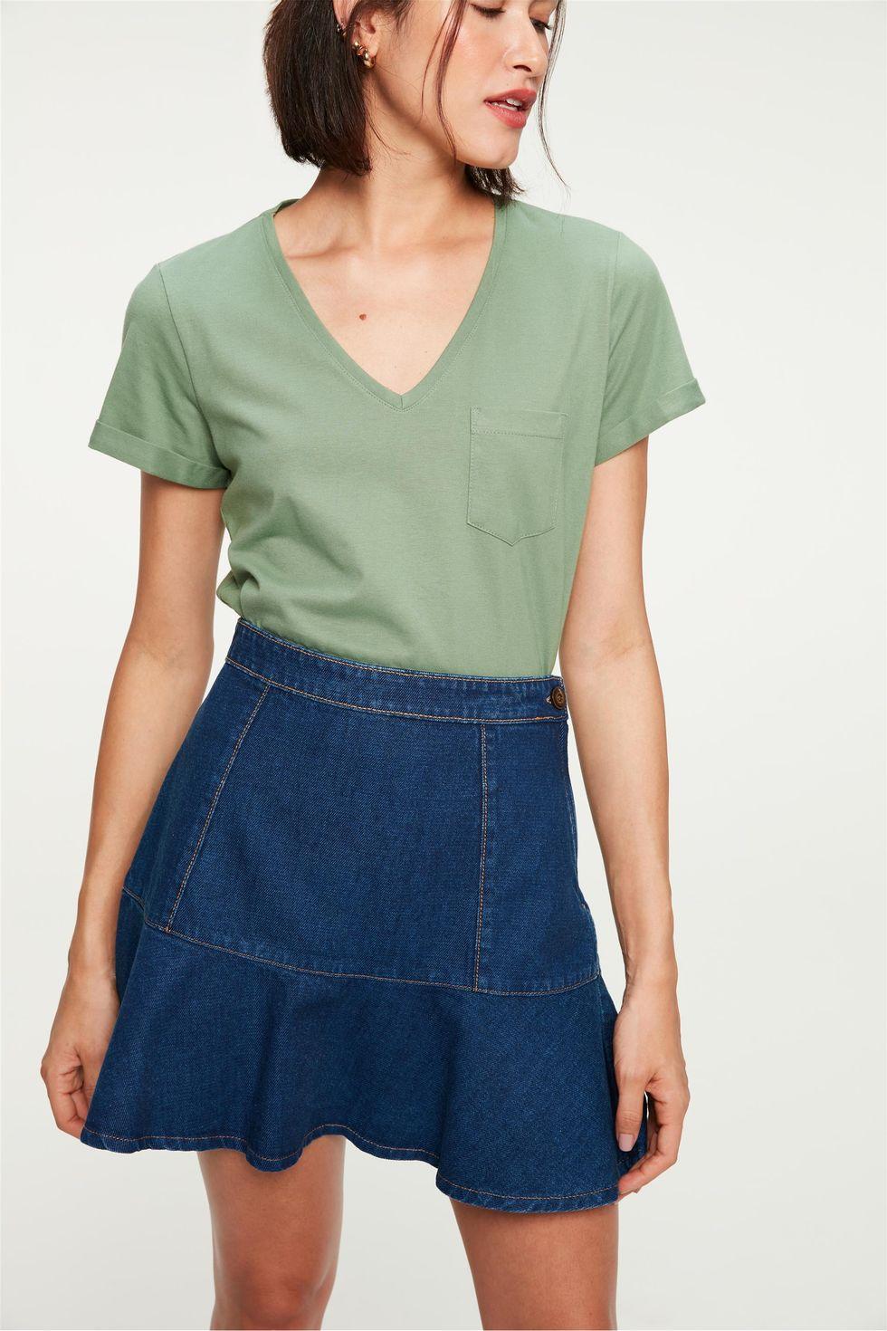 Saia-Jeans-Mini-Peplum-com-Recortes-Frente--