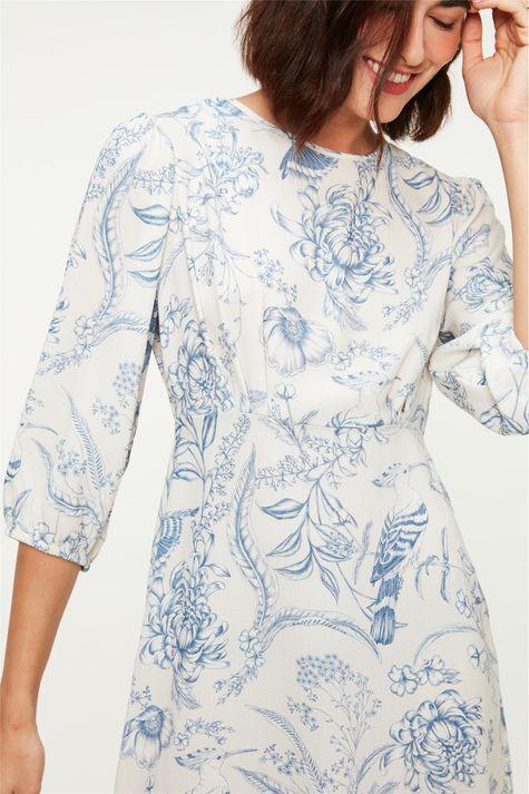 Vestido-Midi-Mangas-3-4-e-Estampa-Floral-Detalhe--