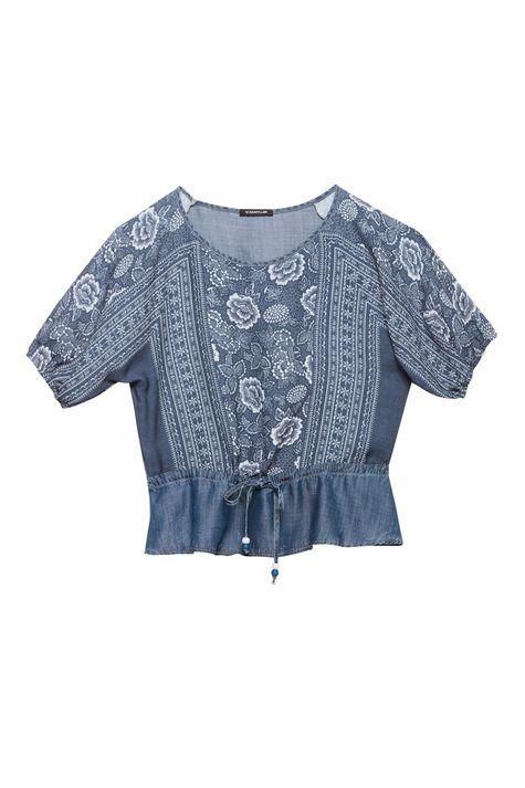 Blusa-Jeans-Franzida-com-Estampa-Floral-Detalhe-Still--