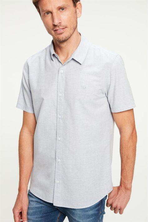 Camisa-Lisa-de-Manga-Curta-Masculina-Frente--
