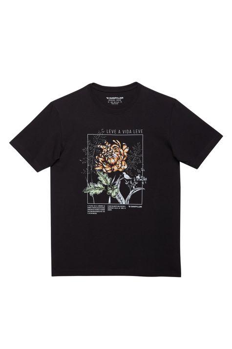 Camiseta-com-Estampa-Leve-a-Vida-Leve-Detalhe-Still--