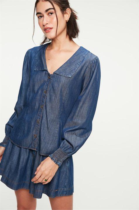 Camisa-Jeans-Maxi-Gola-e-Mangas-Bufantes-Frente--