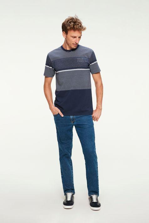 Calca-Jeans-Azul-Medio-Reta-Masculina-Frente--