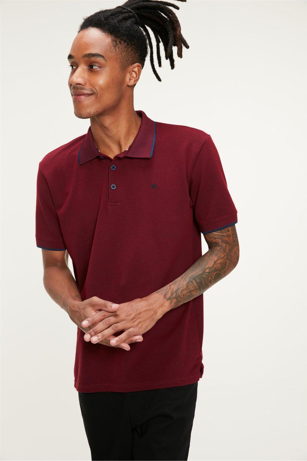 Camisa-Polo-de-Manga-Curta-Masculina-Frente--