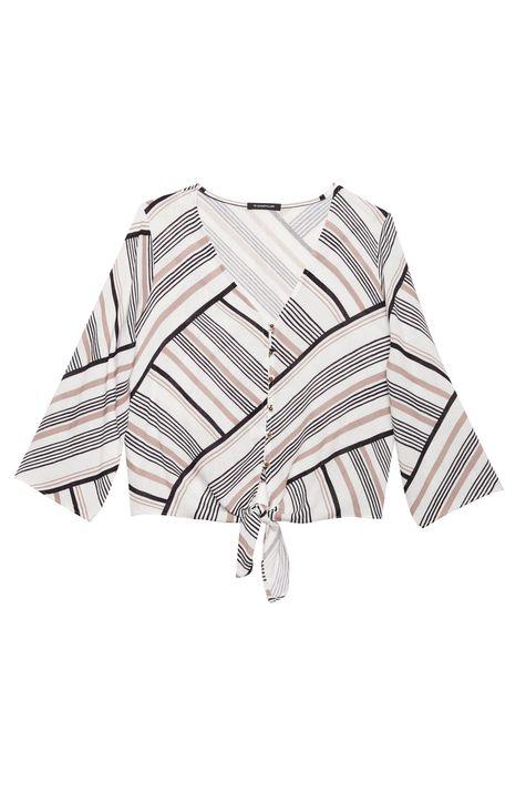 Camisa-Manga-3-4-com-Estampa-de-Listras-Detalhe-Still--