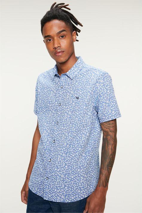 Camisa-Manga-Curta-Estampa-Floral-Azul-Frente--