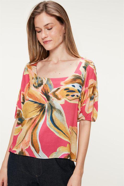 Blusa-Decote-Quadrado-Estampa-Floral-Frente--