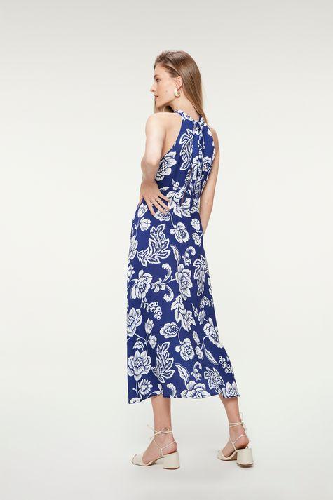 Vestido-Midi-com-Estampa-Floral-Azul-Costas--