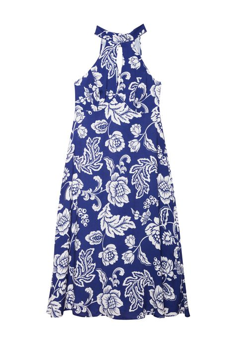 Vestido-Midi-com-Estampa-Floral-Azul-Detalhe-Still--