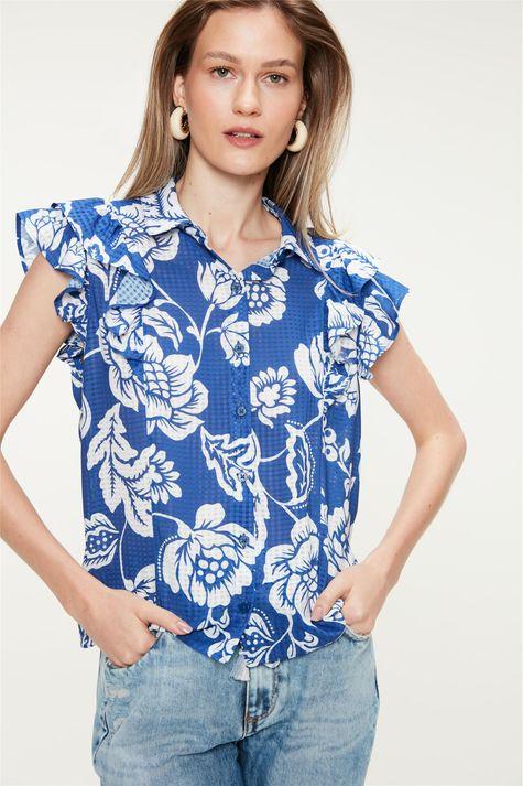 Camisa-com-Babados-e-Estampa-Floral-Azul-Frente--