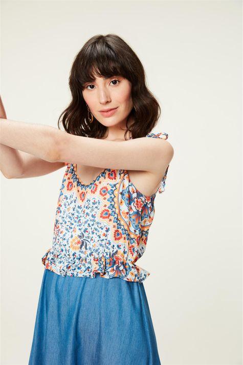 Vestido-Jeans-Estampa-Floral-Colorida-Detalhe--