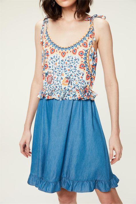 Vestido-Jeans-Estampa-Floral-Colorida-Detalhe-1--