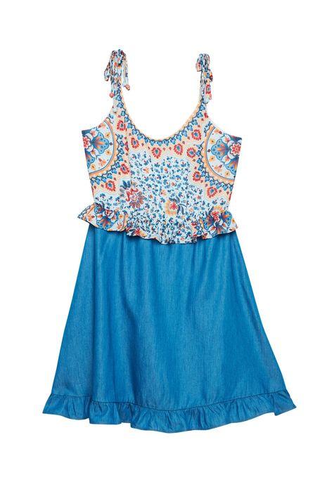 Vestido-Jeans-Estampa-Floral-Colorida-Detalhe-Still--