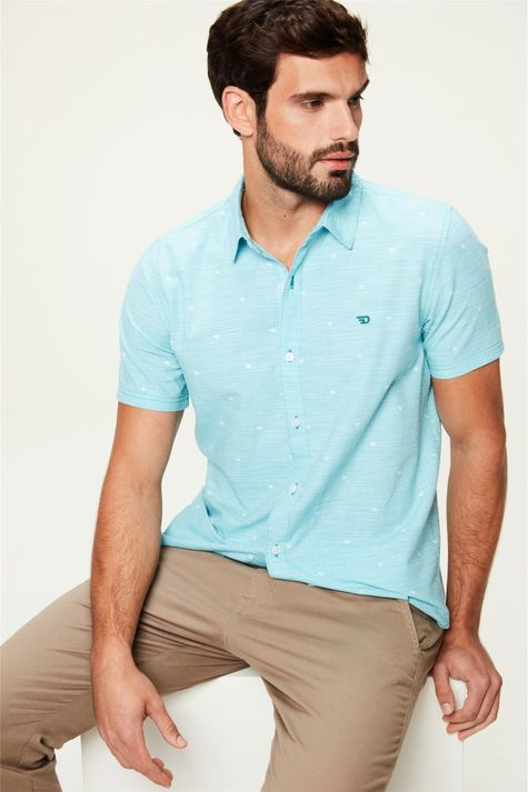 Camisa-de-Algodao-com-Estampa-Azul-Claro-Frente--
