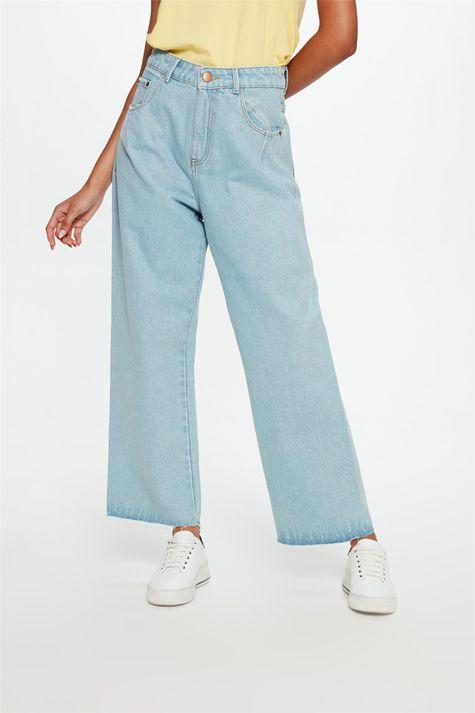 Calca-Jeans-Azul-Claro-Wide-Leg-Cropped-Detalhe--