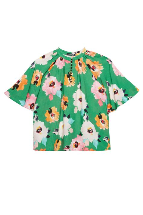 Blusa-Solta-com-Estampa-Floral-Verde-Detalhe-Still--