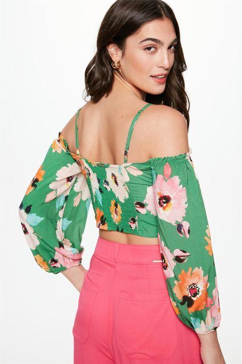 Blusa-Cropped-com-Estampa-Floral-Verde-Costas--