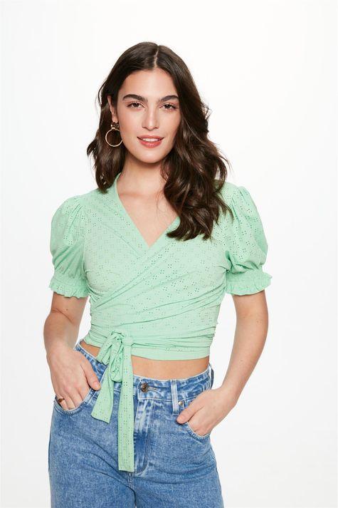 Blusa-Transpassada-com-Textura-de-Laise-Frente--