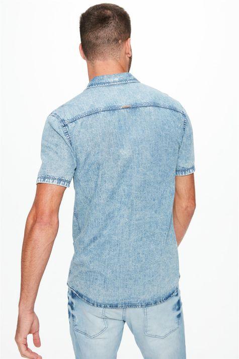 Camisa-Jeans-Manga-Curta-com-Bolsos-Costas--